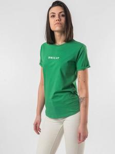 Bluzka Unicat z krótkim rękawem z okrągłym dekoltem w stylu casual