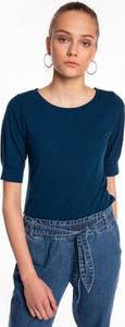T-shirt Gate z okrągłym dekoltem w stylu casual z krótkim rękawem