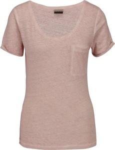 Różowy t-shirt Napapijri z krótkim rękawem