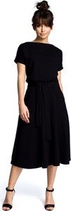 Czarna sukienka Merg rozkloszowana