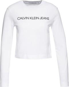 Bluzka Calvin Klein w młodzieżowym stylu z długim rękawem