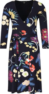 Sukienka Desigual z długim rękawem z dekoltem w kształcie litery v