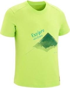 Zielona koszulka dziecięca Quechua