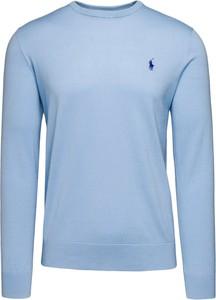 Niebieska koszulka polo POLO RALPH LAUREN w stylu casual