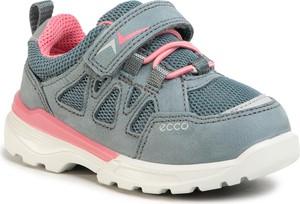 Niebieskie buty sportowe dziecięce Ecco z nubuku