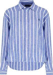 Niebieska koszula POLO RALPH LAUREN z lnu
