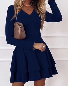Niebieska sukienka Kendallme rozkloszowana w stylu casual z bawełny