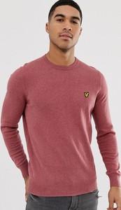 Różowy sweter Lyle & Scott z bawełny