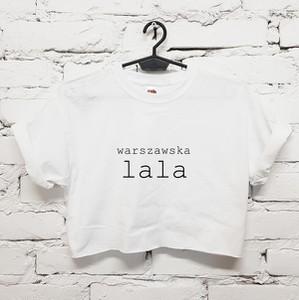T-shirt Time For Fashion z bawełny z okrągłym dekoltem z krótkim rękawem
