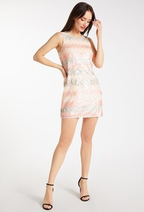 Różowa sukienka Monnari mini bez rękawów
