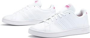 Trampki Adidas advantage sznurowane z płaską podeszwą