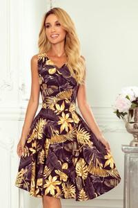 Sukienka NUMOCO dla puszystych z dekoltem w kształcie litery v bez rękawów