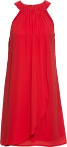 Czerwona sukienka bonprix BODYFLIRT boutique z tkaniny kopertowa