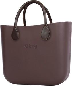 Brązowa torebka O Bag do ręki matowa