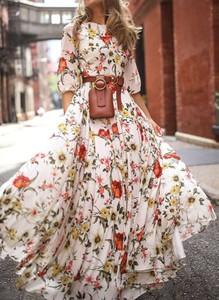 Sukienka Sandbella maxi hiszpanka w stylu boho