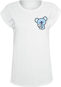 T-shirt Emp z bawełny z okrągłym dekoltem z krótkim rękawem