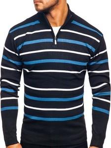 Granatowy sweter Denley z tkaniny