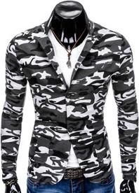 Marynarka ombre clothing z bawełny w militarnym stylu