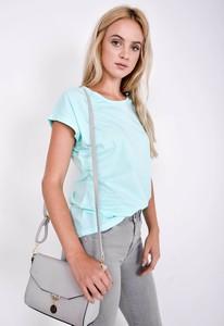 Bluzka Zoio w stylu casual z krótkim rękawem z bawełny