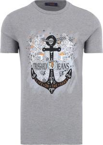 T-shirt Trussardi Jeans z krótkim rękawem w młodzieżowym stylu