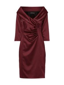 Czerwona sukienka Marie Noir kopertowa mini