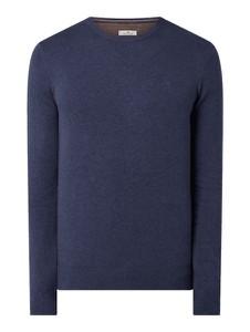 Granatowy sweter Tom Tailor z bawełny