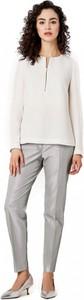 Bluzka POTIS & VERSO z długim rękawem z okrągłym dekoltem z tkaniny