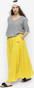 Żółta spódnica Freeshion midi