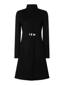 Czarny płaszcz Hugo Boss z wełny