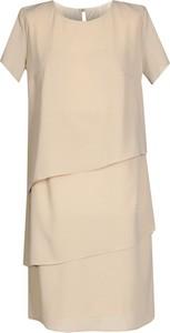 Sukienka Fokus z okrągłym dekoltem w stylu boho midi