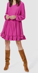 Sukienka Rich & Royal z długim rękawem mini