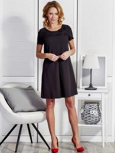 Sukienka Sheandher.pl z okrągłym dekoltem z krótkim rękawem mini