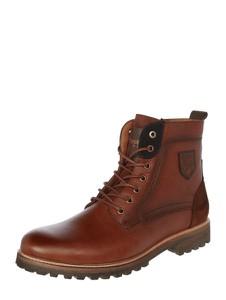 Brązowe buty zimowe Pantofola d`Oro sznurowane ze skóry