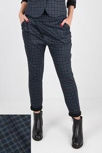 Granatowe spodnie MeMola z dzianiny