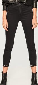 Czarne jeansy Reserved z jeansu w młodzieżowym stylu