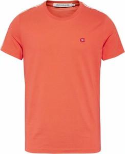 T-shirt Calvin Klein z krótkim rękawem z bawełny w stylu casual