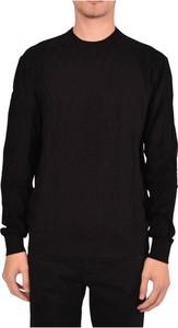 Czarny sweter Emporio Armani z okrągłym dekoltem w stylu casual