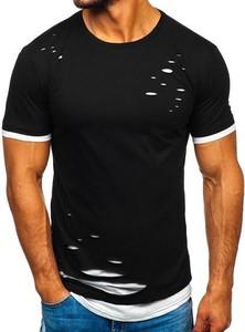 T-shirt Denley z krótkim rękawem z bawełny