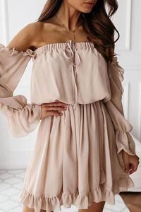 Sukienka IVET mini hiszpanka w stylu casual
