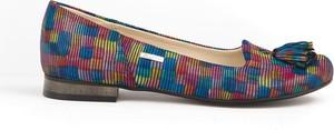 Baleriny Zapato z nubuku w stylu boho
