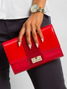 Czerwona torebka Rovicky mała w stylu glamour