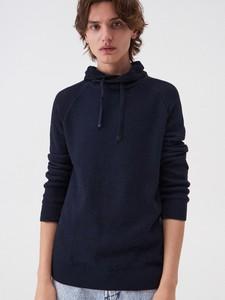 Niebieski sweter Sinsay z bawełny