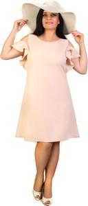 Sukienka Exclusive Line trapezowa z tkaniny