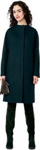 Zielony płaszcz POTIS & VERSO z zamszu