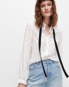Koszula Reserved z długim rękawem z kokardą w stylu casual