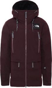 Czerwona kurtka The North Face z tkaniny w sportowym stylu krótka