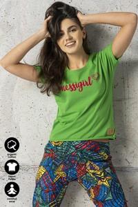 T-shirt Nessi Sportswear z krótkim rękawem z bawełny
