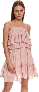Różowa sukienka Top Secret na ramiączkach