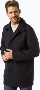 Granatowy płaszcz męski Boss
