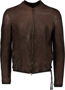 Brązowa kurtka Salvatore Santoro krótka w stylu casual